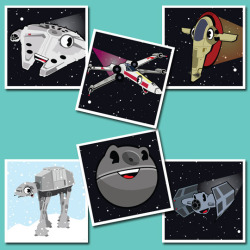 Star Wars Vehicle Hero Squares