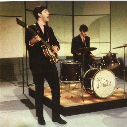 everyonethinksimlazy:  The Beatles performing in one of their first television recordings