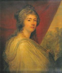 Angelica Kauffman (1741-1807), Portrait of Georgiana, Duchess of Devonshire, c.1793-1806, Standstead Park.