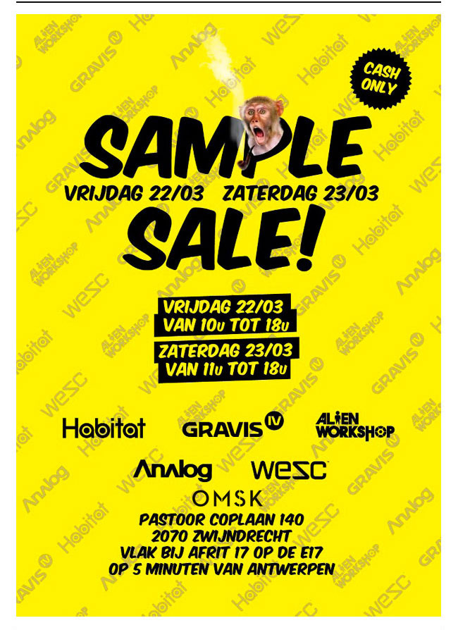 LUCKY PEOPLE OF BELGIUM! OMSK IS HAVING STOCK SALES THIS FRIDAY 22 AND SATURDAY 23 OF MARCH! COME, ENJOY THE SPRING PRICES AND LEAVE HAPPY! SEE YOU THERE!