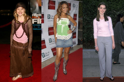 What did style icons like Rihanna and Anne Hathaway wear way back when? See your favorite stars' early red carpet looks here »