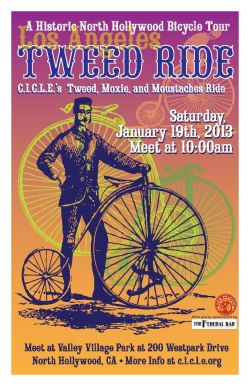 lastreetsblog:  Tweed Ride on 1/19. CICLE always has the coolest posters.