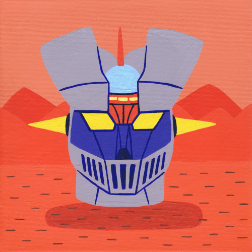 Head of Mazinger Z Created for the GO NAGAI TRIBUTE: DEVILS & ROBOTS show at Q Pop Shop