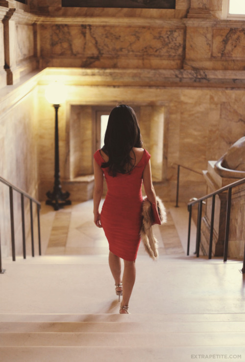 ASOS Little Red Dress at Boston Public Library
