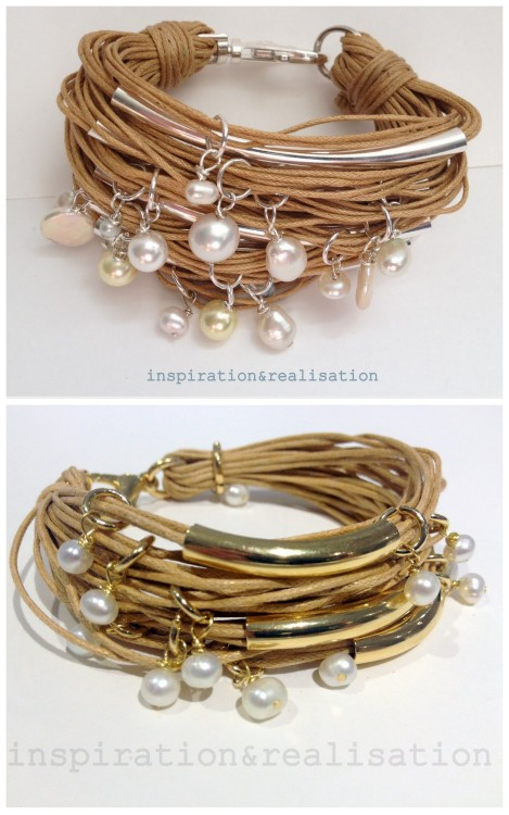 truebluemeandyou:  DIY Cords, Tubes & Pearls Bracelets Tutorials from inspiration & realisation. Donatella has just posted a simplified version of her pearls and tubes bracelet. Top Photo: Original Cords,Tubes & Pearls Bracelet from inspiration & realisation I posted here. Bottom Photo: Simplified Version of the Cords, Tubes & Pearls Bracelet Tutorial from inspiration & realisation here.