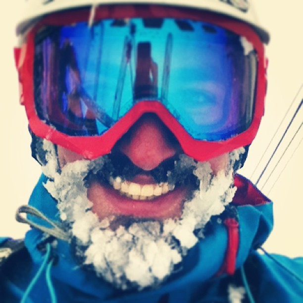 The powder beard is in fill effect in Japan. (at 白馬コルチナスキー場 (Cortina Ski Resort))