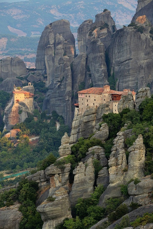 bluepueblo:  Sunset, Meteora, Greece photo via besttravelphotos