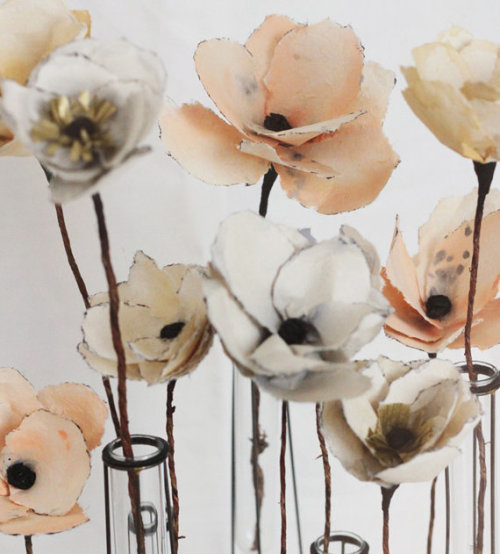 Spring DIY Wedding Inspiration - Beautiful Homemade DIY Watercolor Flowers for Wedding Centerpieces or Bouquets + Other Great Ideas