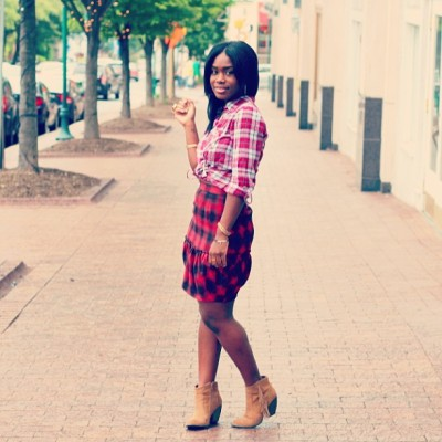 All plaid everything on the bloggy blog today. Check it out. http://wp.me/p3tq8B-3Cz #plaid #bbdakota #cccalifornia #targetstyle #ootd #westernflair #fringebooties
