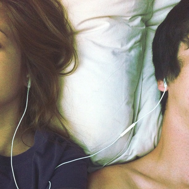 exceptance:  opiumfields:  Win: finding a boy who likes the same music as you  he's a keeper  i love this picture so much.