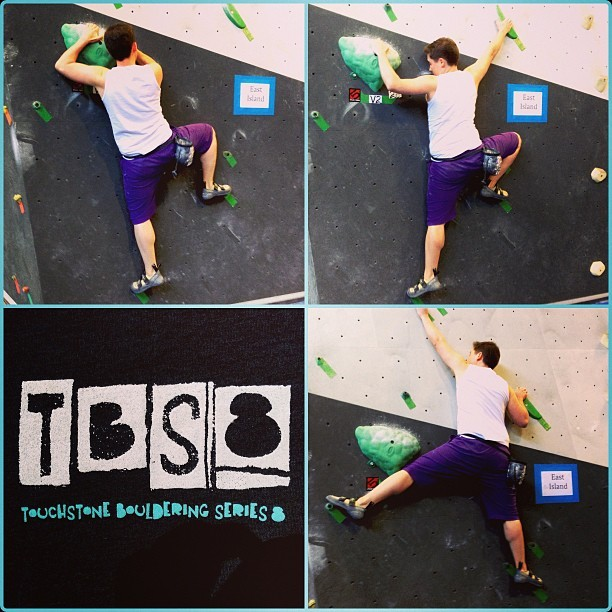 Climbing the Rock. #tbs8  (at Dogpatch Boulders)