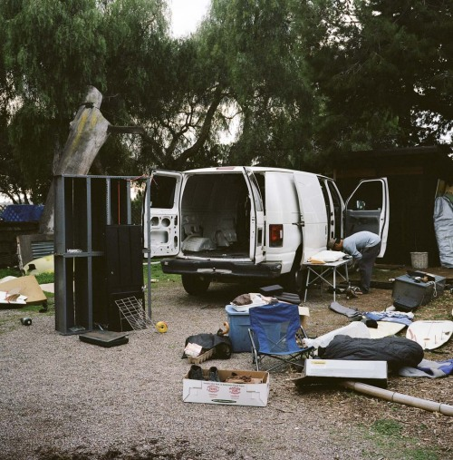 van-life:   Model: Cyrus Sutton's Ford Econoline e150 Location: Encinitas, CA Photo: Foster Huntington