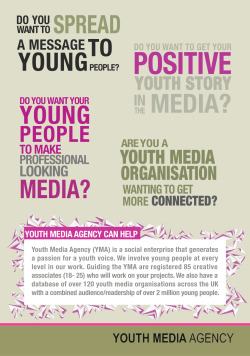 Youth Media Agency flyer Side 1