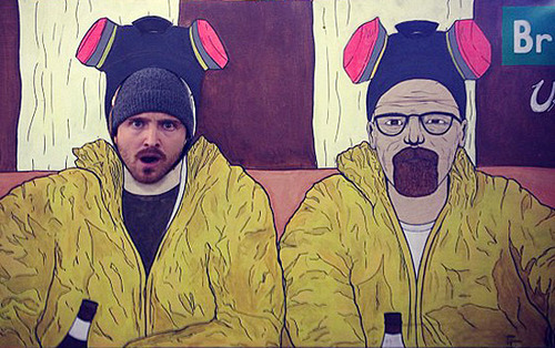 heisenbergchronicles:  Aaron Paul poses as himself in the ABQ Urban Outfitters. Photo by p1ss on Instagram.