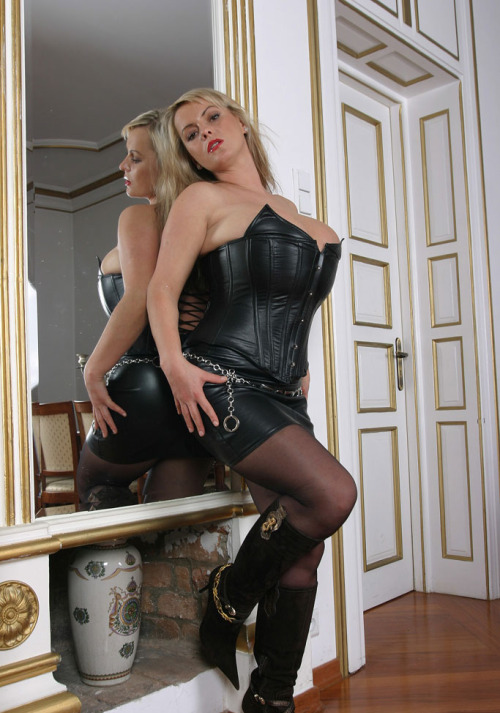 She wants me to lick her boots and smell her pantyhosed feet as a sign of obedience to her.