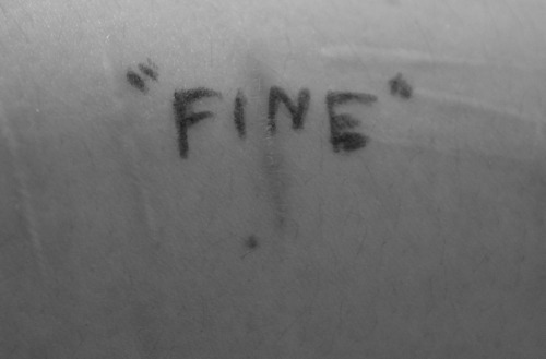 "thesecoundchoice-girl:  ""Fine"""