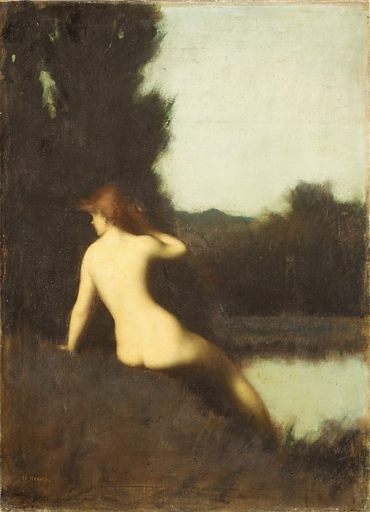 centuriespast:  A Bather (Echo) Jean-Jacques Henner (French, Bernwiller 1829–1905 Paris) Date: 1881 The Metropolitan Museum of Art