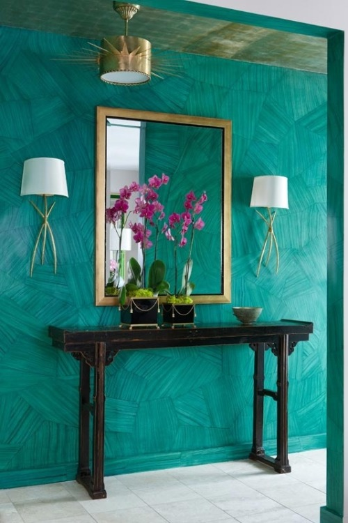 theaestate:  malachite/ emerald walls via