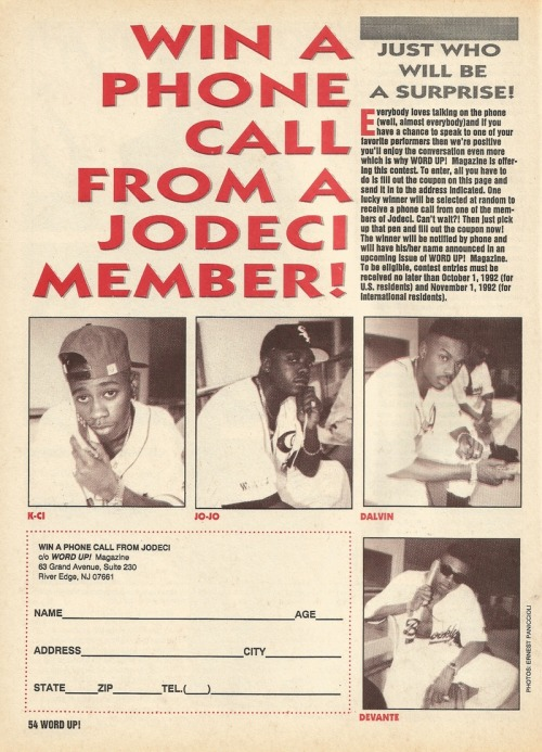 "upnorthtrips:  WIN A PHONE CALL FROM A JODECI MEMBER! PRVSLY: ""Win a Phone Call from EPMD!"""