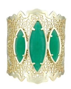Chanya Cuff Bracelet in Matte Green - Kendra Scott Island Escape preview, in stores and online April 24, 2013 at 5pm CST. {ks}