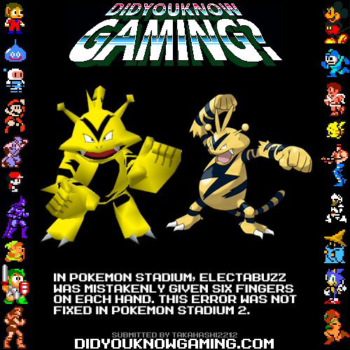 didyouknowgaming:  Pokemon Stadium.  http://www.youtube.com/watch?v=Zbjale5qwpg&t=1m57s
