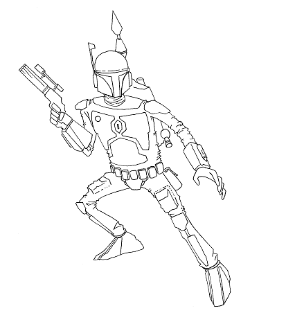 a Mandalorian bounty hunter from that one movie.