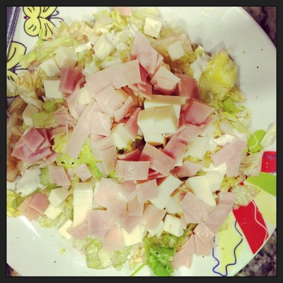 Cena :) #yummers #instafood #salad #ham #cheese #fitness #weigthloss