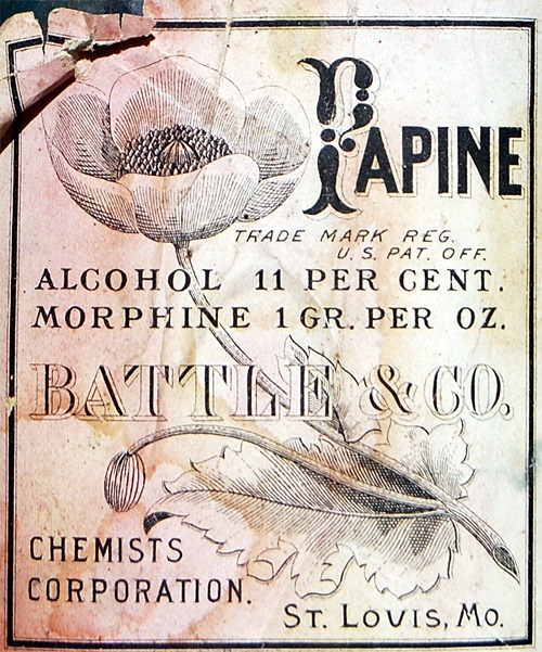 Papine was trademarked in 1907, though it was used prior to the this, as well. Doctors (in a medical journal in 1891) gave it wonderful testimonials for patients who couldn't tolerate straight-up morphine or opium.
