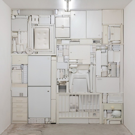Michael Johanson , installation artist , a well stacked kitchen