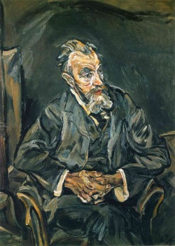 psychotic-art:  Portrait of Carl Moll, Oskar Kokoschka