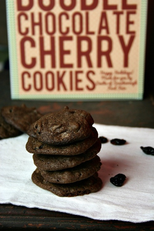 foodopia:  double chocolate cherry cookies: recipe here