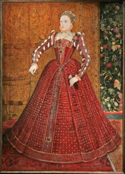 La Reina Isabel de Inglaterra, 1560  Via Thought Patterns.