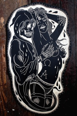 shestayssblunt:  capekalaska:  deerjerk:  Reaper and Lady. 2013  So rad.  I want this exactly tatted