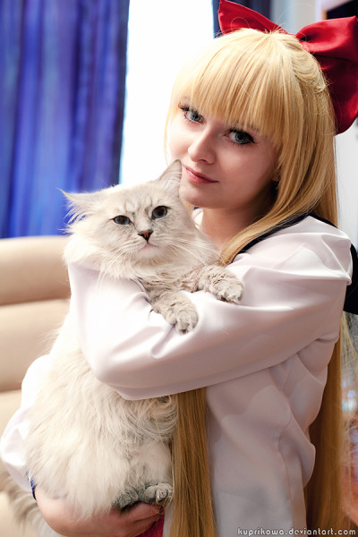 cosplaygirl:  Sailor Moon: Minako and Artemis by ~lucien-fleurier on deviantART
