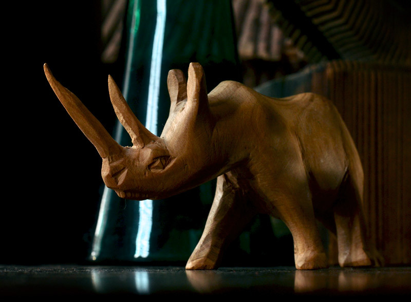 Vintage Wooden Rhinoceros (sold)