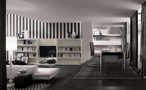 homedesigning:  (via Bookshelf as Room Focus in Interior Design)