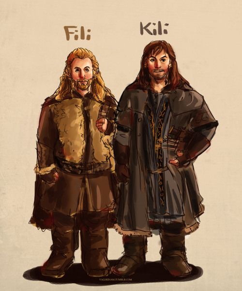 First attempt at drawing Fili and Kili ahh it's really messy