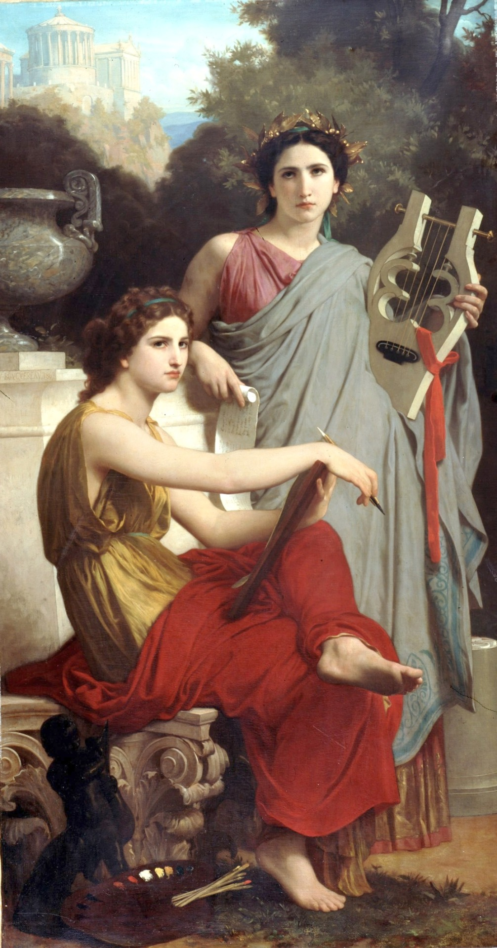 Art & Literature by William Adolphe Bouguereau (1825-1905) oil on canvas, c.1867