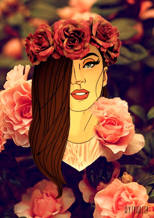 ayipareep:  This is my 'Gaga Del Rey' art . Inspired from Lana Del Rey and Helen Green Art