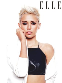 headnegress:  Miley Cyrus - Elle UK - May 2013