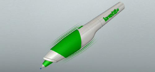 springwise:  Pen vibrates when the user makes a mistake The Bruynzeel My Grip pen may have been designed for kids by kids themselves, but it seems safe to say it lacks at least one feature that most schoolchildren would surely value. Imagine a pen that alerts the user as soon as they've made a mistake, and you've essentially got the Lernstift, a new innovation from an Austrian startup by the same name. READ MORE…