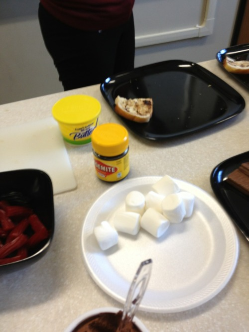 My teacher is from Australia and we have to try vegemite to pass
