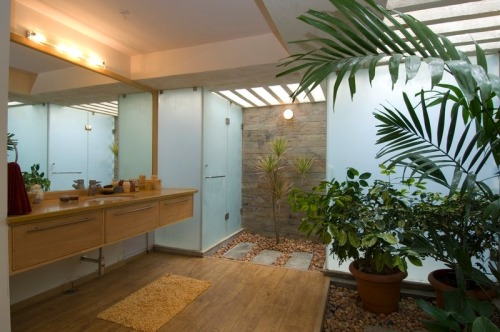 homedesigning:  Interior Courtyard Bathroom