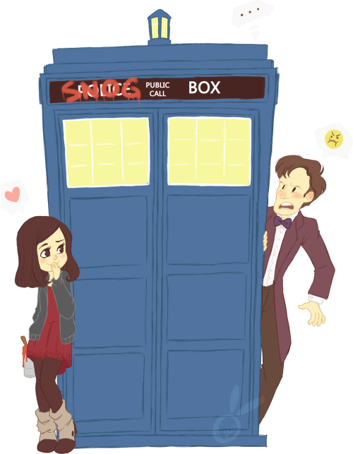 "widdlez:  ""THE TARDIS IS NOT A SNOG BOX!"""