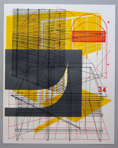 rmgdesign:  (via Perspective overlap 5 multilayer 16 x 20 inch by benkafton on Etsy)