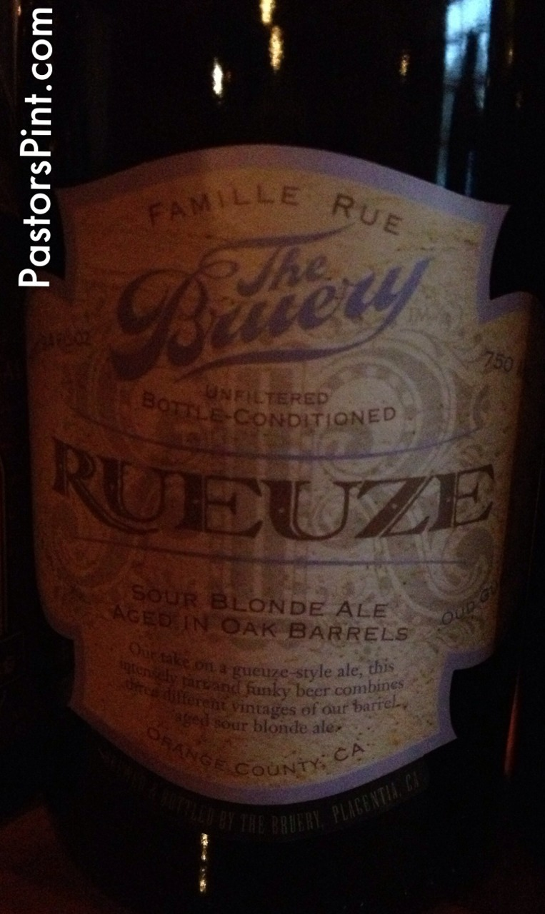 Rueuze -The Bruery  Sour with notes of apple cider vinegar.  Some white wine flavors as well.  3 Stars