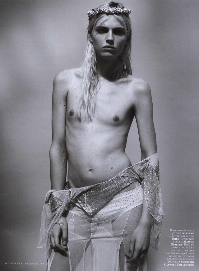 "n0va-reb3l:  "" White Wedding"" Andrej Pejic For  Citizen K Summer 2011 By Gregory Derkenne"