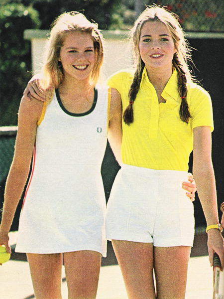 superseventies:  Tennis fashion for girls in Seventeen magazine, April 1978
