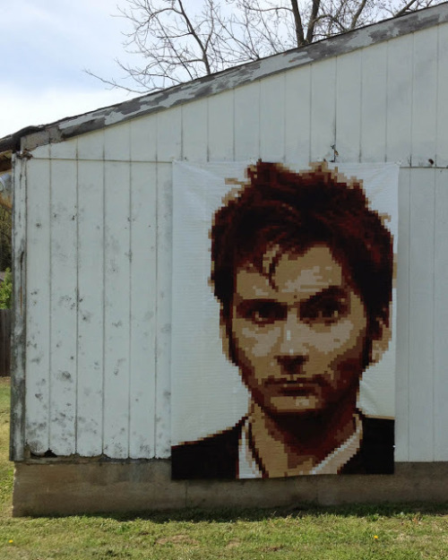 David Tennant Pixel Quilt