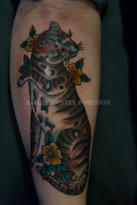 fun cat tattoo I did last month